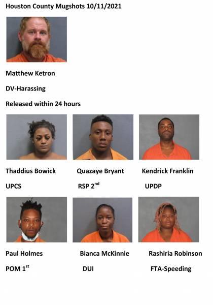 Houston County Mugshots 10/11/2021