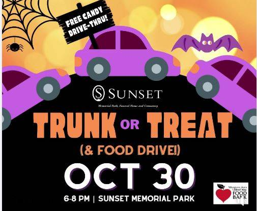 Drive-Thru trunk or Treat Sunset Memorial Park