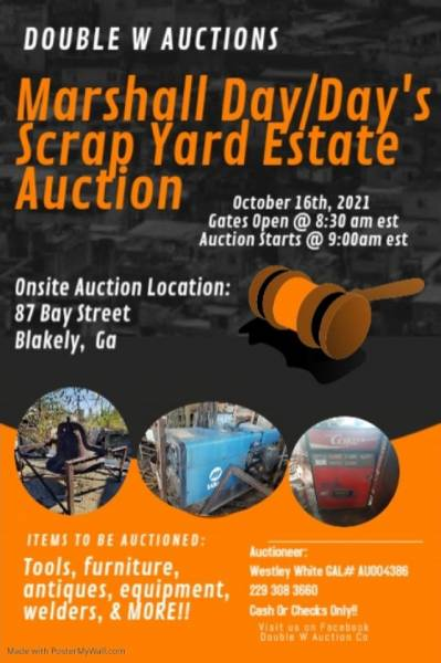 Marshall Day/Day's Scrap Yard Estate Auction
